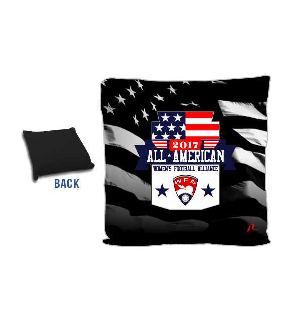 Custom Square Pillow - 2018 All American - Women s Football Alliance - Shop 832584fa24