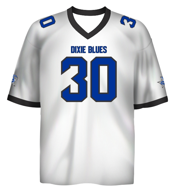 the best attitude acd8f ff0ff Custom Fan Jersey A - Jacksonville Dixie Blues Football - Shop