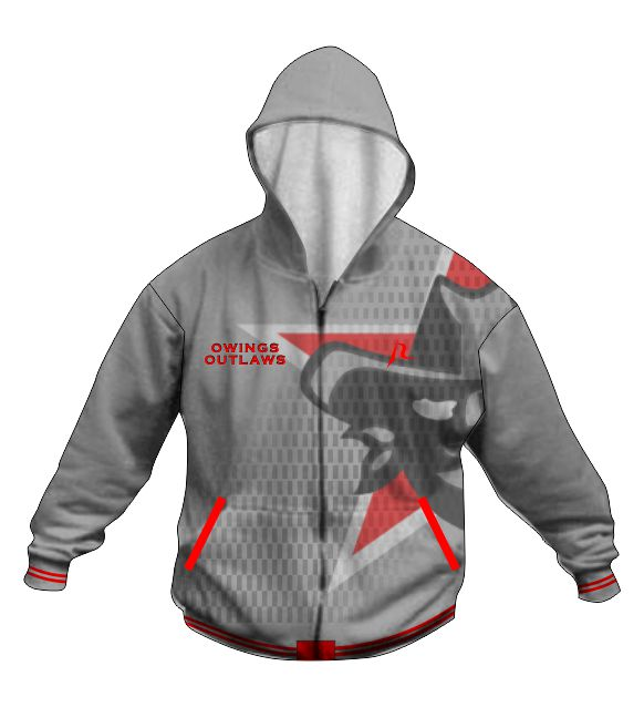 Hoodie Jacket B - Owings Outlaws Youth Club - Shop