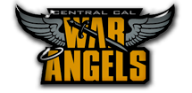 Central Cal War Angels Women's Professional Football Logo